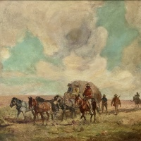 In the Gold Rush Days - by Frederick Challener