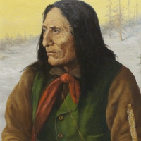 Portrait of Chief Crowfoot by Father Henry Metzler