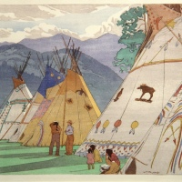 Indian Days, Banff by WJ Phillips