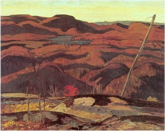 Canvas for Algoma Rocks by Alexander Young (A.Y.) Jackson not for sale