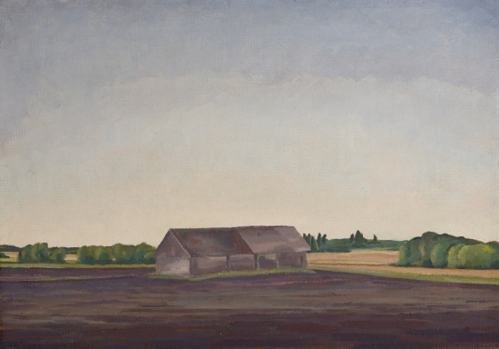 Landscape with Barn by Lionel LeMoine (L.L) Fitzgerald