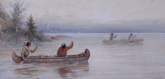 Transporting Furs, Northern Ontario by Frederick A. Verner