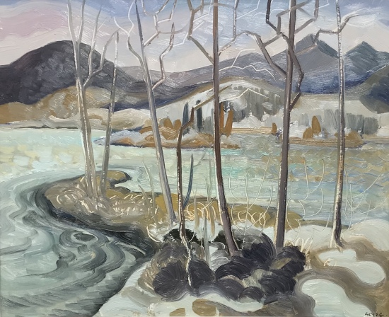 Athabasca River, Jasper by Henry George (H.G.) Glyde