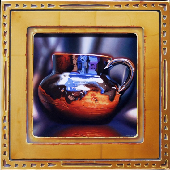 Framed: Taza by John  Hall