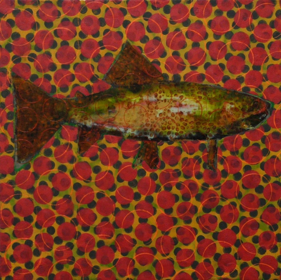 Trout Painting #020-1782 by Les Thomas