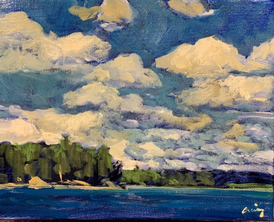 Clouds over Rosseau by Philip Craig
