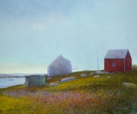 The Red Shed, Nova Scotia by Barry McCarthy