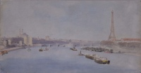 Barges on the River Seine by Frederic Marlett Bell-Smith