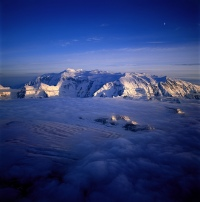 Mount Logan and Half Moon by Roberta Bondar