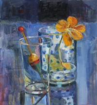 Bobber and Nasturtium by Carol Stewart