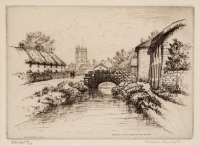Bridge Near Dorchester Dorset by Caroline Helena Armington