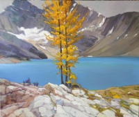 Larch Standing Before Lake McArthur by Philip Craig
