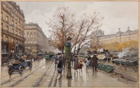 Les Quais a Paris  by Eugène Galien-Laloue