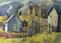 Miner's Houses, Canmore  by Henry George (H.G.) Glyde