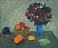 Fruit and Flowers by Goodridge Roberts