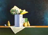 Still Life with Hydrangeas by Katherine Helmer