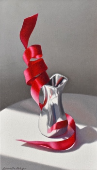Red Ribbon 5 by Leon Belsky