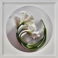 Spinning Calla Lilies #2 by Leon Belsky