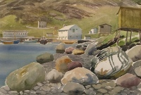 Boulders at Port Kirwan by Doris McCarthy