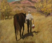 Man and Horse by Philip Craig