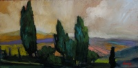 Hill Top View Tuscany by Philip Craig