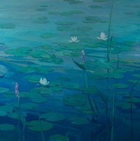 Lily Pads and Water Lilies by Philip Craig
