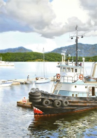 Cowichan Bay Tugboat by Ray Phillips