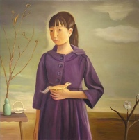 Young Girl with Gecko by Jane Smaldone