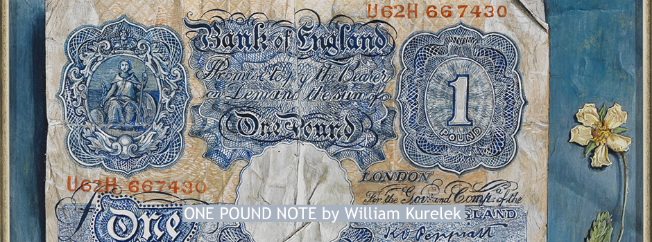 ONE POUND NOTE by William Kurelek